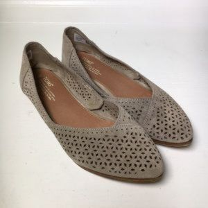 TOMS Jutti Suede Perforated Flats